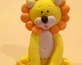 lion fondant cake topper