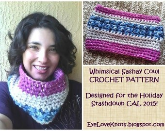 CROCHET PATTERN - Whimsical Sashay Cowl - Super Bulky Cowl Pattern - Winter Cowl Pattern - Crochet Gift for Her - Permission to Sell Items