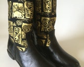 Handcrafted African textile boots