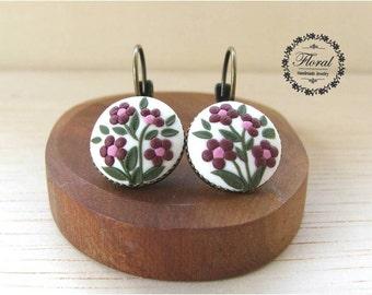 Boho Dangle Earrings Pink Flower Earrings Bohemian Gift for Her Bohemian Drop Earrings Boho Jewelry Boho Gift For Her