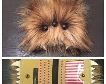 Heebie Jeebie Small Brown Furry Bi-Fold Wallet