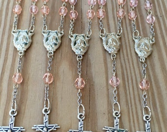 Light Pink Mini Rosary