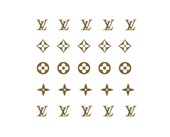Louis Vuitton Inspired Lv Nail Decals Classic Monogram