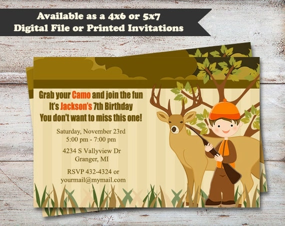 Hunting Birthday Party Invitations Hunting Party Camo – Hunting Party Invitations