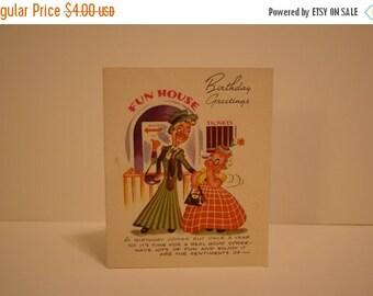 SALE Vintage Humorous Birthday Card, Used
