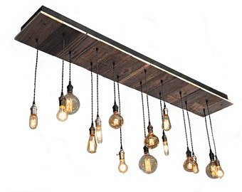 15 Light Reclaimed Wood Chandelier