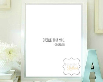 Pick for me - Cinderella quote printable quotes printable