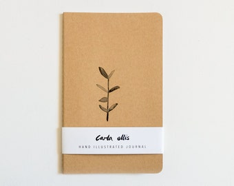 Moleskine Journal: Botanical, Hand Illustrated - Blank or Lined