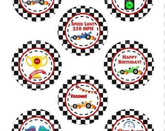 race car cupcake topper race car cupcake wrapper printable race car topper race