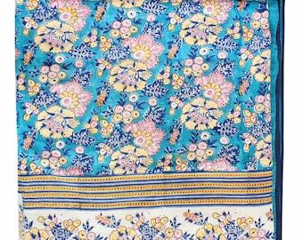 Cotton Voile Ethnic Jaipuri Hand Block Print Falalen Filling Inside AC Dohar Blanket