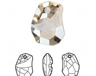 Golden Shadow Divine Rock Pendant   Swarovski Crystal   6191 19mm
