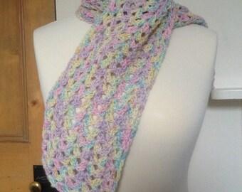 Pretty Crochet Scarf Silk/Merino Yarn