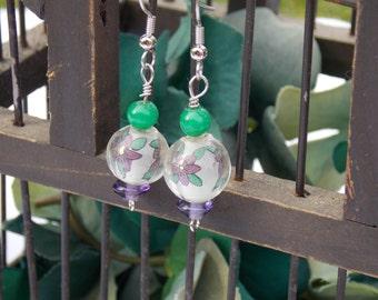 Flower Lantern Earrings