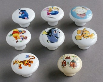drawer knobs door knobs children room  Disney cartoon characters cartoon knobs  variety picture 155