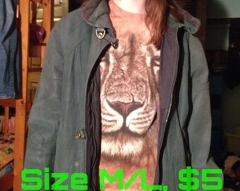 Green Oversized Coat