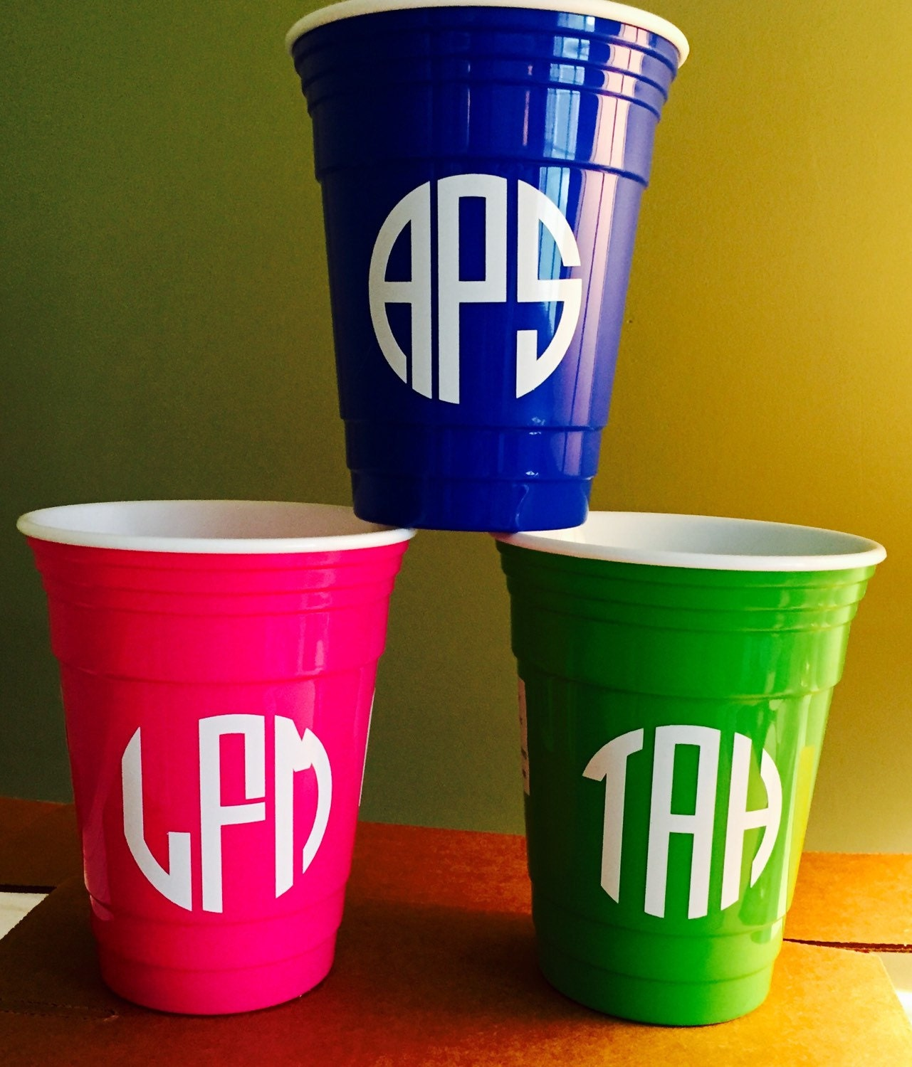 Personalized acrylic solo cups greek letters girl39s night for Vinyl letters for plastic cups