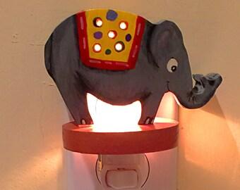 Elephant Wooden Nightlight, Kid's Night Light, Unique Nightlight, Childrens Night Light