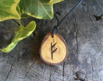 Rune Necklace - Fehu - Rune Pendant - Luck Necklace - Pendant Necklace - Talisman Necklace
