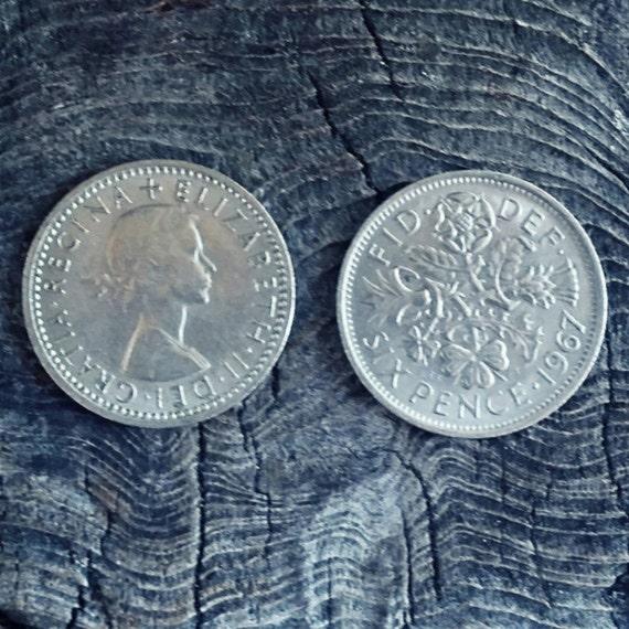 English Sixpence - Lucky Sixpence - Sixpence Bridal Gift - Silver Sixpence