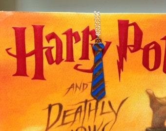 Hogwarts Ravenclaw House Tie Necklace