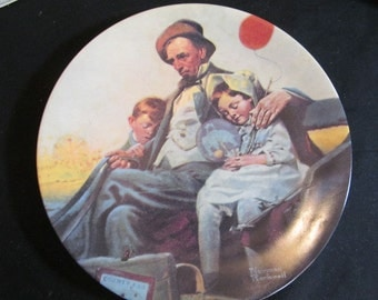 Norman Rockwell Plates The Cobbler, Home From the County Fair, and more Knowles Collection Vintage 1980s CHOICE