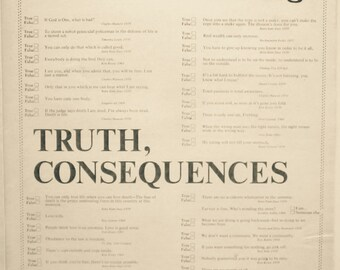 Whole Earth Catalog, Truth, Consequences