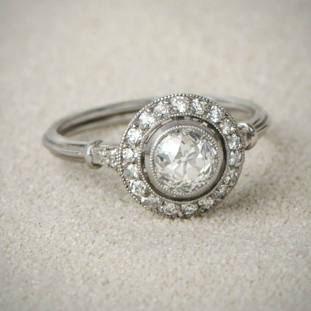 Vintage Style Engagement Rings 1 10ct Old by EstateDiamondJewelry