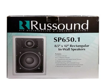 """Russound SP650.1 8.5"""" x 12"""" Rectangular In-Wall Speakers"""