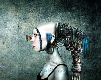 Digital Photomanipulation Print, Graphic Art Print, Robot Art