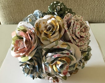 Made to Order Paper flower bouquet, centerpiece, wedding bouquet