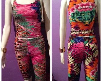 Wild floral leggings set