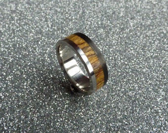 carbon  wood and steel ring