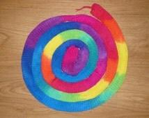 Rainbow Sock Blank (three repeats) 4ply double stranded 75/25 merino/nylon yarn
