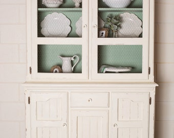 SOLD** Newly Refurbished Buffet Hutch Sideboard Dresser Painted Shabby Chic Vintage