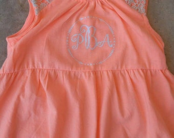 Monogram girls dresses