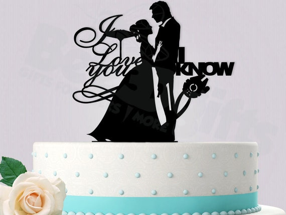 star wars wedding cake topper starwars inspired han and leia wedding cake topper by 20509