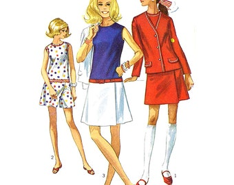 Simplicity Sewing Pattern 8098 Misses' Culotte-Dress in two lengths, unlined Jacket  Size:  14  Used