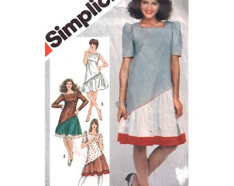 Simplicity Sewing Pattern 5893 Misses Dress in two lengths  Size:  14  Used