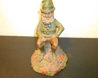 1985 O Brian Vintage 8 inch no 37   Tom Clark gnome signed in ink
