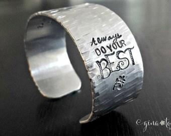 Four Agreements, 4 Agreements Jewelry, Inspiration Bracelet, Cuff Bracelet, New Age Jewelry, Spiritual Bracelet, Do Your Best