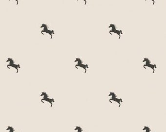 15% Off // Au Naturel Horse Polka Dot, Equestrian Collection, Camelot Fabrics, Quilting Weight Cotton Fabric