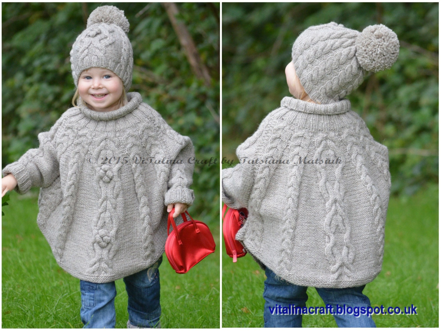 Child S Poncho Knitting Pattern : Knit poncho child