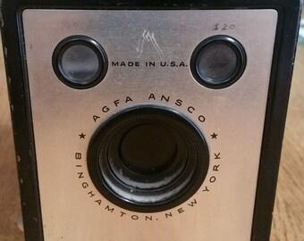 1935 Vintage Agfa Ansco shur shot box camera collectible antique rare
