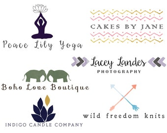 Custom Logo Design and Watermark - 3 Concepts, Business Logo, Hand Drawn Logo