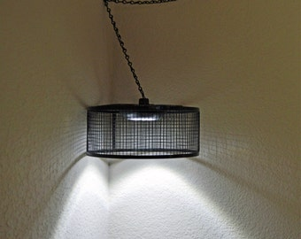 Black Metal Wire Drum Style Pendant L& Swag L& & Swag lamp   Etsy azcodes.com