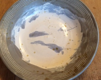 Ocean blue stoneware dish