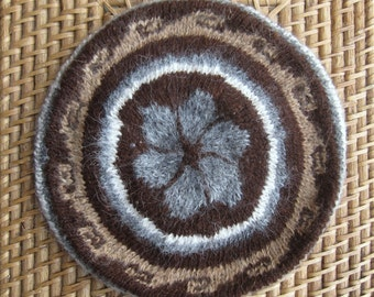 Alpaca Hand Knitted Beret Size L