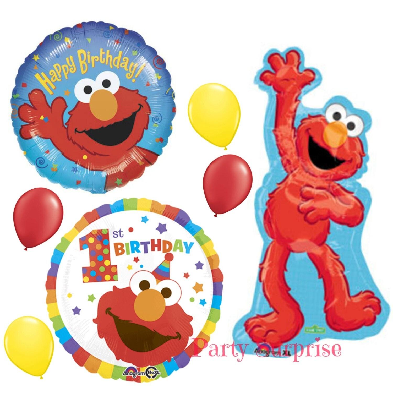 1st Birthday Elmo Sesame Street Balloon Package Happy Birthday