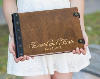 Wedding Guest Book. Photo Album. Wood Photo Album. Custom Wedding Album