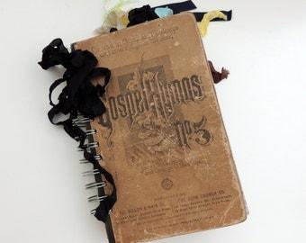 Junk Journal, Vintage Gospel Hymns Journal, Junque Journal, Vintage Junk Journal, Vintage Ephemera Journal, Mixed Media Journal
